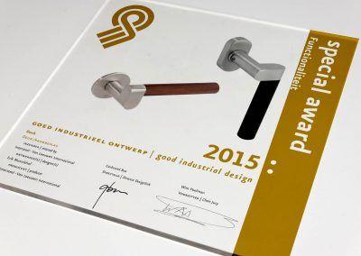 """Eén van de """"Goed industrieel ontwerp"""" Awards 2015"""