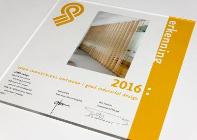 """Eén van de """"Goed industrieel ontwerp"""" Erkenningen 2016"""
