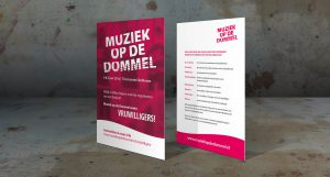 Mock up flyer Muziek op de Dommel 2017