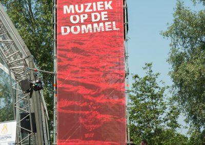 Banner bij het hoofdpodium Muziek op de Dommel 2015