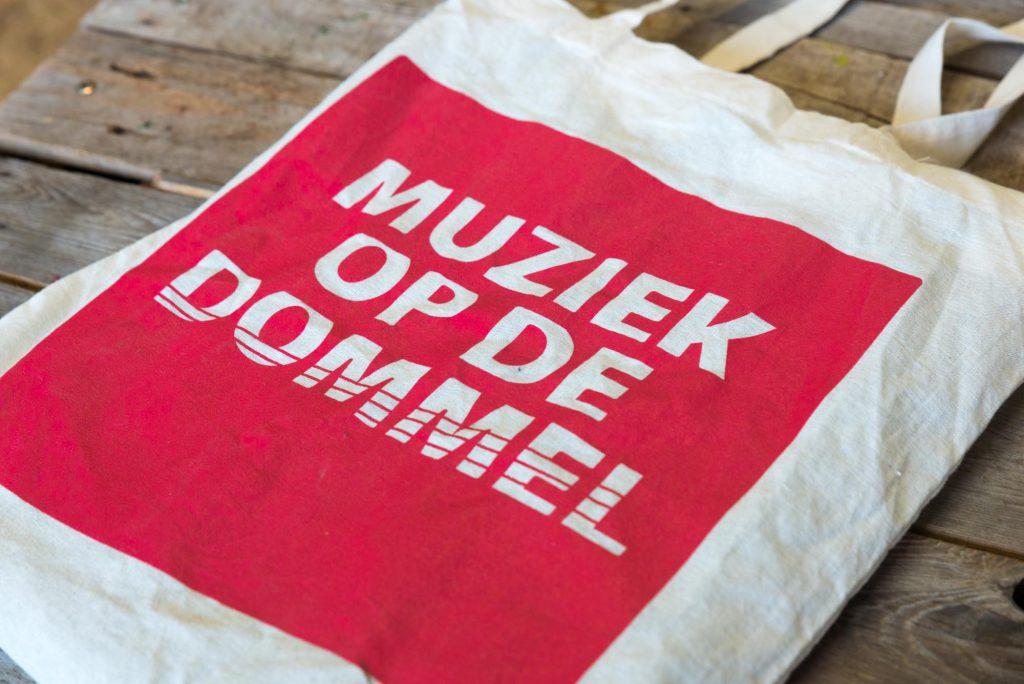 Stoffen tas met logo Muziek op de Dommel