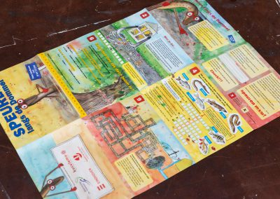 Speurkaart 'Speuren langs de Dommel' achterkant
