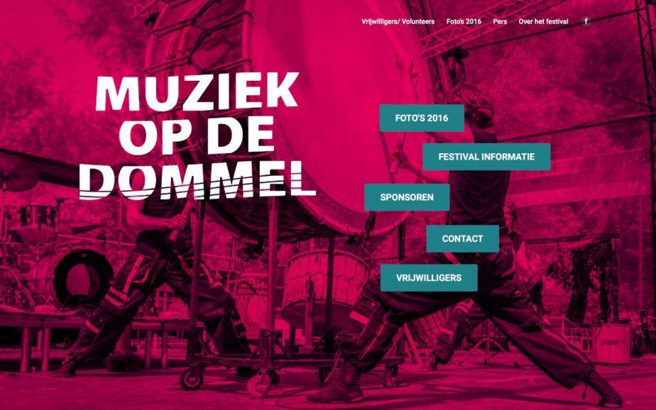Website Muziek op de Dommel 2016