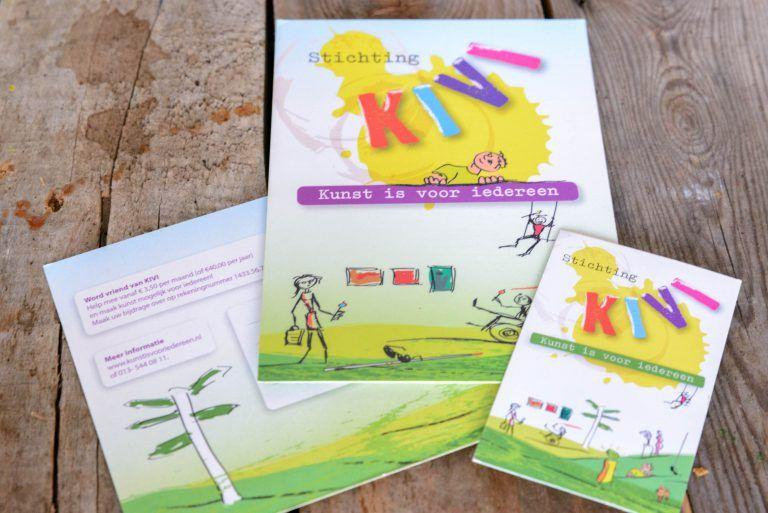 Flyer en visitekaart, Stichting Kunst is voor iedereen