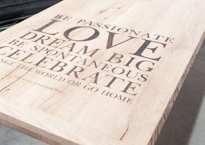 Tafel Love, Dream big, Celebrate
