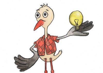 Storkje met lamp