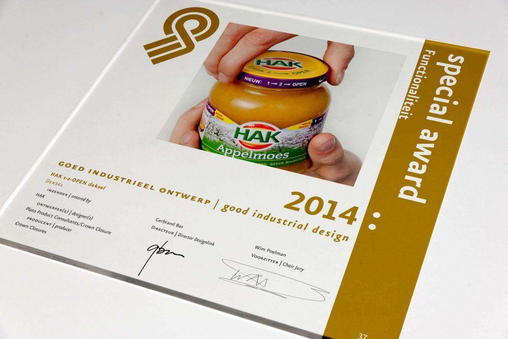 """Eén van de """"Goed industrieel ontwerp"""" Awards 2014"""
