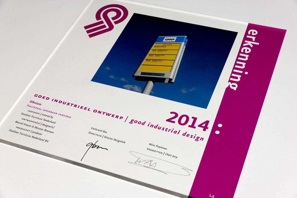 """Eén van de """"Goed industrieel ontwerp"""" Erkenningen 2014"""