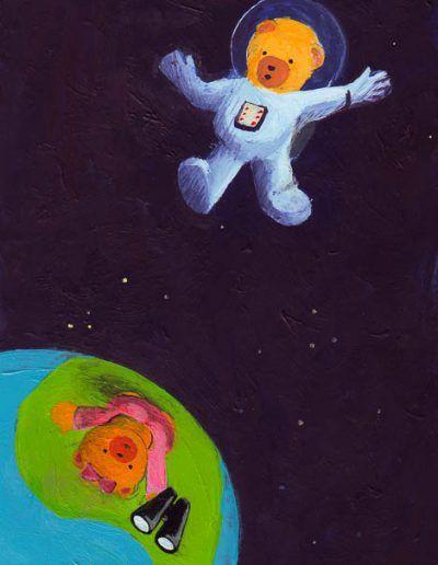 Beertje Bob als astronaut