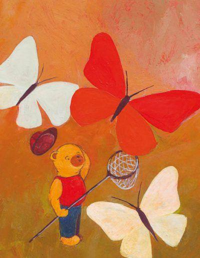 Beertje Bob vangt vlinders
