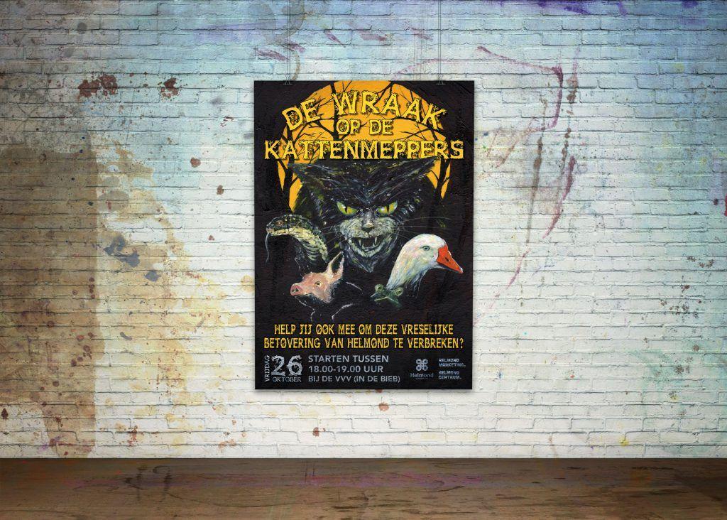 Poster Halloween, De wraak op de kattenmeppers