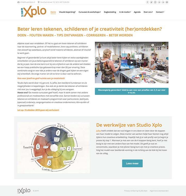 Website voor Studio-Xplo