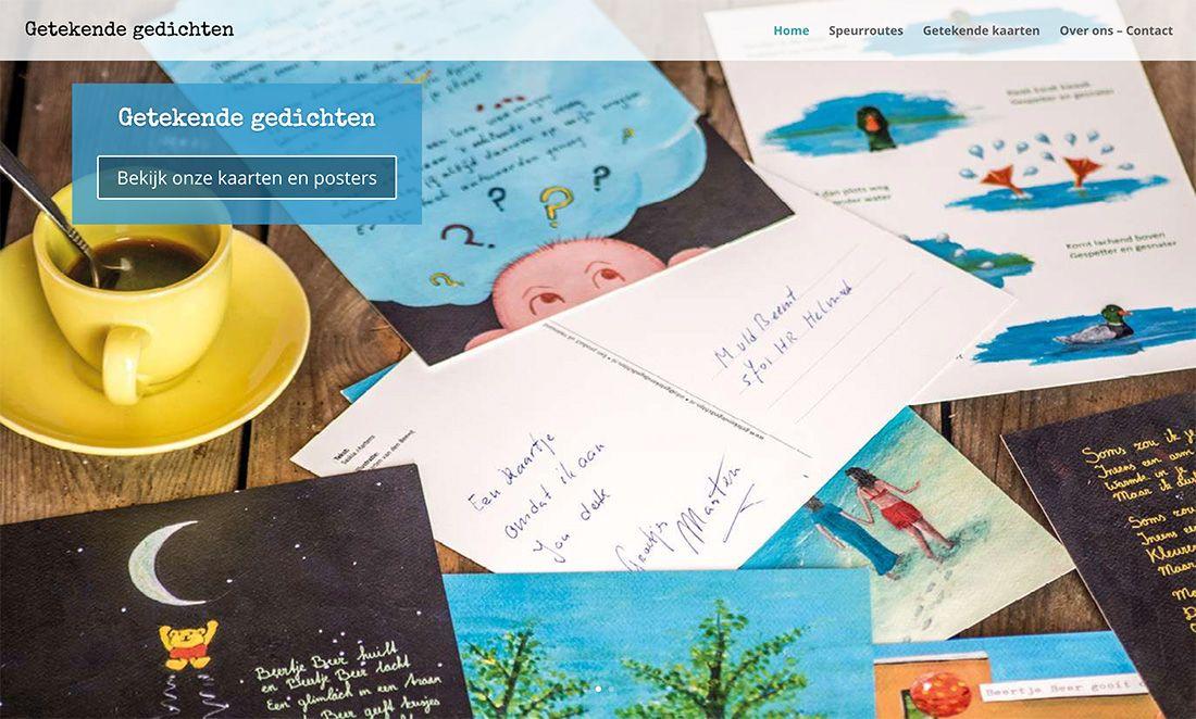 Homepage website Getekende gedichten