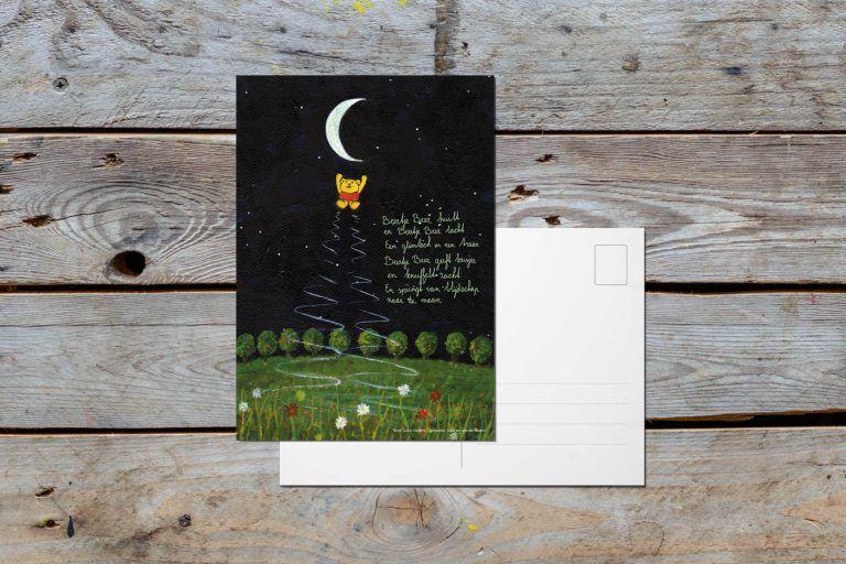 Postcard 'Bear Bear Jumps to the Moon'