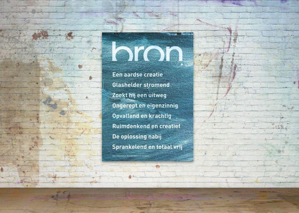 Getekende gedichten Poster 'Bron'