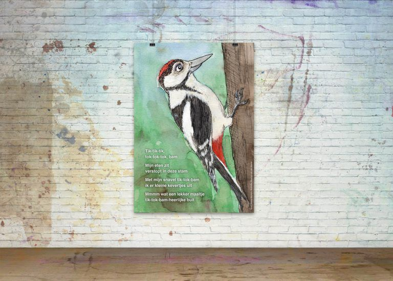 Drawn Poems, Poster 'Woodpecker'
