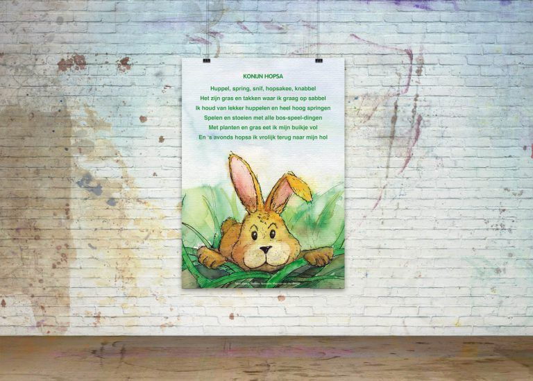 Drawn Poems, Poster 'Rabbit Hopsa'