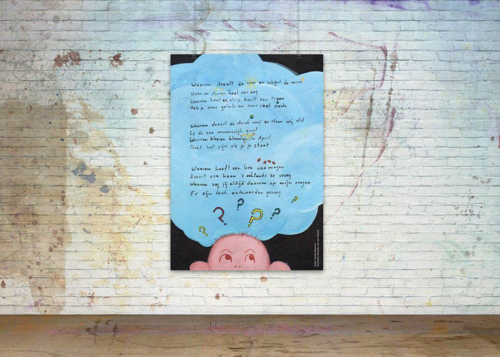 Getekende gedichten Poster 'Waarom'