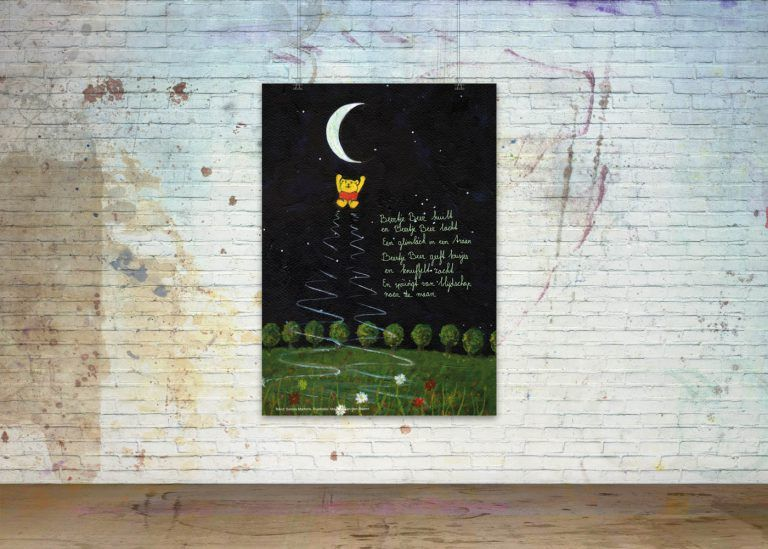 Drawn Poems, Poster 'Bear Bear jumps to the moon'