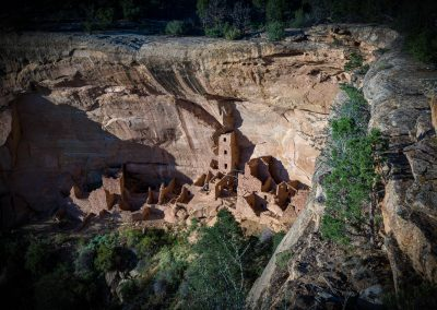Woningen gebouwd in de rotsen