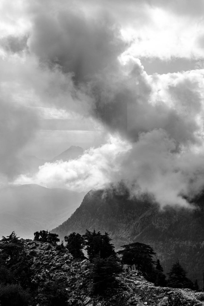 Threatening clouds at mountain