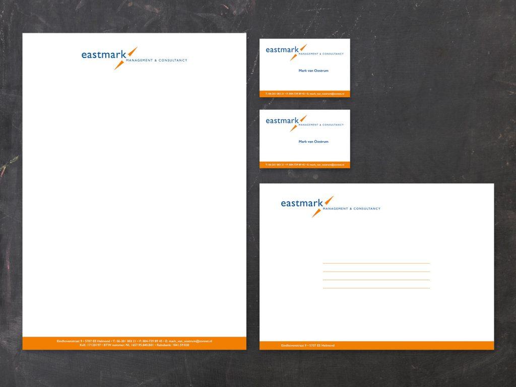 Huisstijl Eastmark management & consultancy